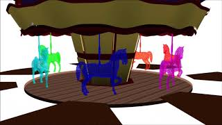Learn Colors for Kids Children with 3d colorful horse
