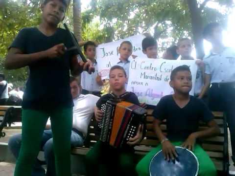 Niños acordeoneros durante competencia en el marco del @FVIndioTayrona en Santa Marta.