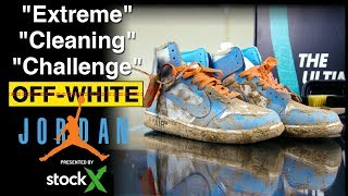Off-White Jordan 1 UNC Extreme Cleaning Challenge presented by StockX