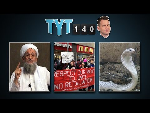 Ferguson Inquiry, Al-Qaeda Branch, Fast Food Strike & Escaped Cobra | TYT140 (September 4, 2014)
