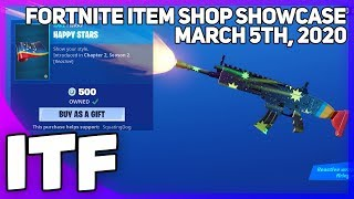 Fortnite Item Shop NEW HAPPY STARS WRAP! March 5th, 2020 Fortnite Battle Royale