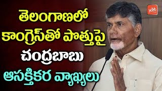 AP CM Chandrababu Comments Over TDP Alliance With Congress in Telangana