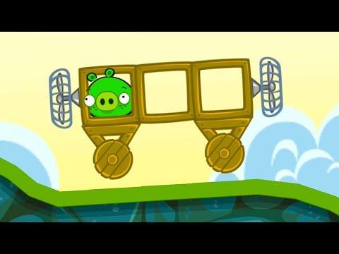 Bad Piggies #1 Плохие свинки мультик игра про машинки с мультяшными героями #МАШИНКИКИДА