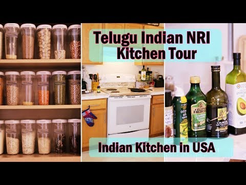 Telugu (తెలుగు) Indian NRI Kitchen Tour in USA | Rented Apartment Kitchen | One Stop Watch