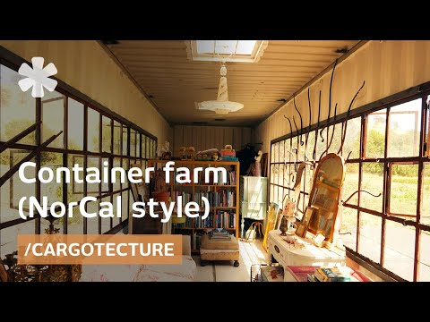 Refined home crafted from 2 shipping containers on NorCal farm