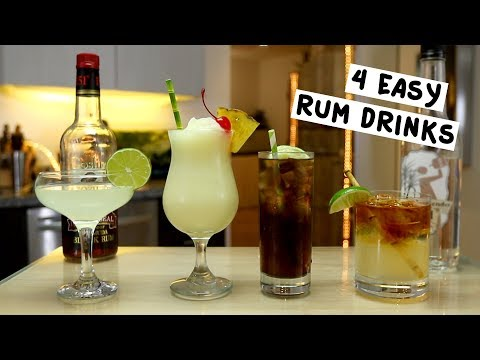 Four Easy Rum Drinks