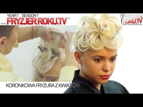 Koronkowa Fryzura Z Kwiatów ❀ Romantic Hairstyle FryzjerRoku.tv