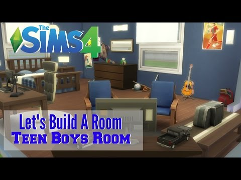 The Sims 4 : Let's Build A Room - Teen Boys Room video