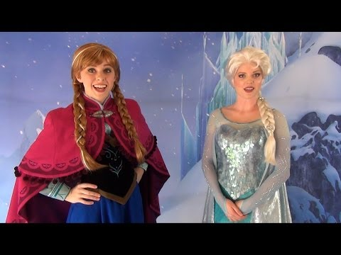 Anna and Elsa from FROZEN - First Public Meet & Greet Appearance, at Disney's Hollywood Studios