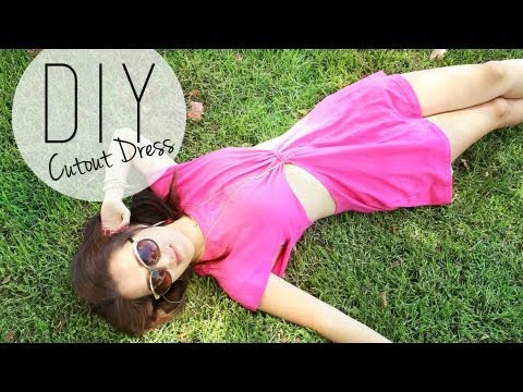 DIY Summer Cutout Dress / Beach Coverup