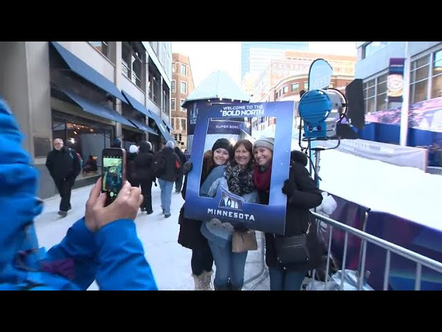 Minneapolis is hoping football fans embrace the cold climate for the Super Bowl