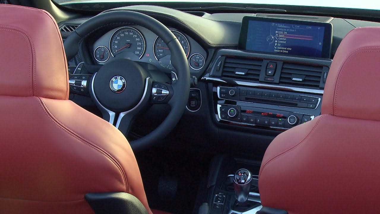 2015 Bmw M4 Convertible Interior Youtube