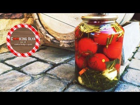 Маринуем помидоры на зиму   Простые рецепты от CookingOlya