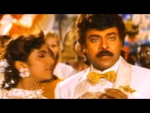 Alluda Majaka Scene - Tayota Comedy Scene In Marriage Party - Chiranjeevi, Ramya Krishna, Rambha