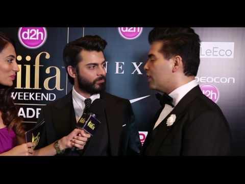 Karan Johar and Fawad Khan at IIFA 2016