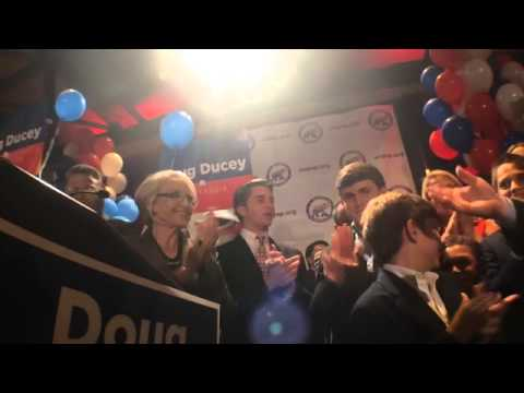 Raw Video: Arizona Governor Jan Brewer introduces hopeful successor Doug Ducey