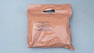 Testing British Single Meal MRE (Meal Ready to Eat)