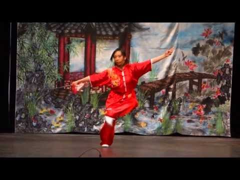Northwest Wushu Students performing at Chinese Arts & Cultural Fair at Seattle Center Armory