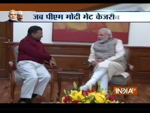 Delhi CM-designate Arvind Kejriwal raises full-statehood issue with PM Modi