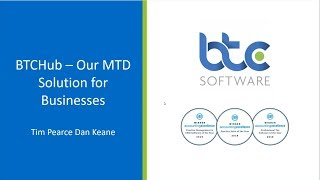 BTCSoftware's MTD for VAT Software for Businesses - Presentation and demo