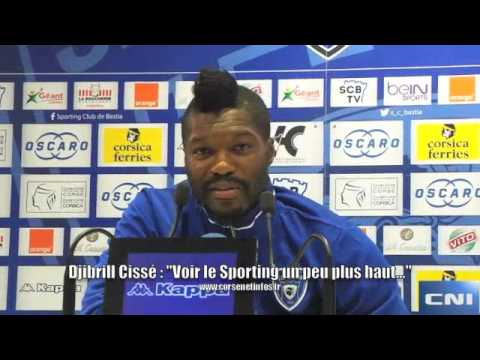 """Djibril Cissé :""""Voir le Sporting de Bastia plus haut au classement"""""""