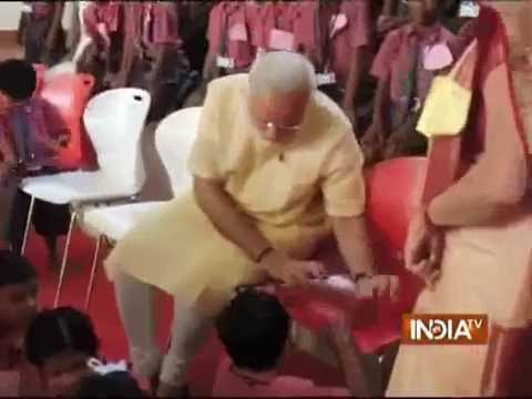 Must Watch: PM Modi's musical duet with a school kid