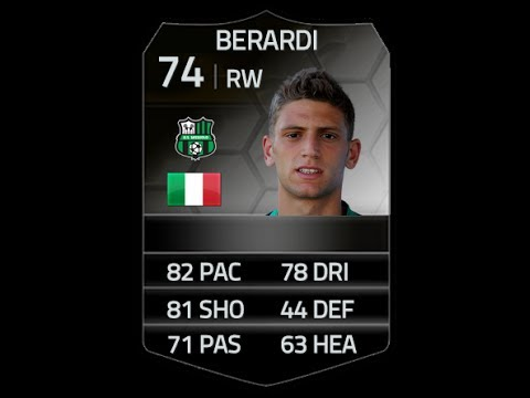 FIFA 14 SIF BERARDI 74 Player Review & In Game Stats Ultimate Team