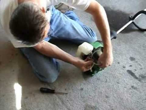 How to replace fuel (gas) line on a weed wacker by Carl Quakenbush 2 stroke line trimmer