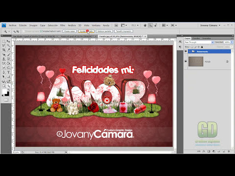 Tutorial Photoshop: Efecto Texto 3D de Amor.