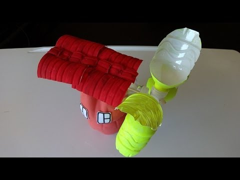 Watermill videolike for Plastic soda bottle crafts