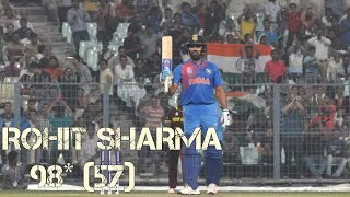 Rohit Sharma 98*(57) VS west Indies Practice Match 10th March 2016