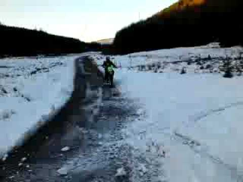 honda trx 300 420 foreman 450 sportrax 400 ex kawasaki klf 300 klx 250 in the snow 4x4 Video