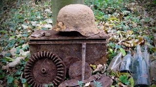 WWII German M42 Helmet - found on Western Front Battlefield