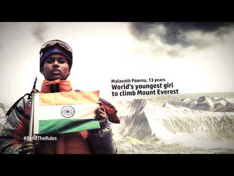 Malavath Poorna, youngest girl to climb Mount Everest  #BendTheRules