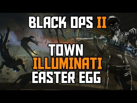 Black Ops 2 Zombies NEW Town Illuminati EASTER EGG Tutorial (Comedic)