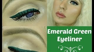 Emerald Green Winged Eyeliner Makeup Tutorial (Cruelty Free)
