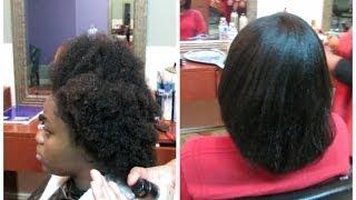 Straightening 4C Natural Hair: Light Press!