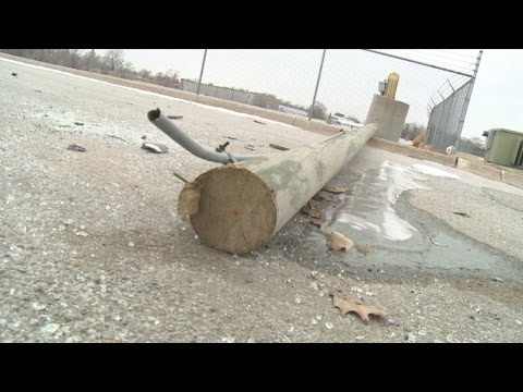 Thieves Chop Down 8 Light Poles for Copper