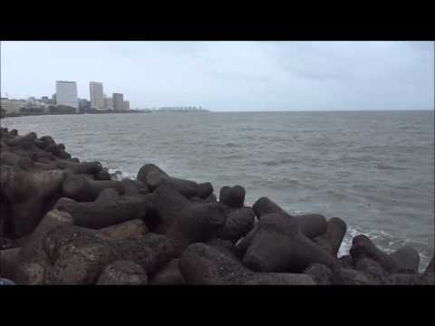sea waves of Marine drive- Mumbai, India