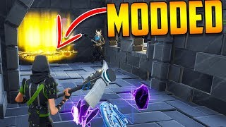 INSANE Scammer Loses Modded Guns (Scammer Gets Scammed) - Fortnite Save The World