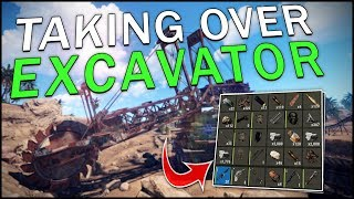 TAKING CONTROL of the *NEW* EXCAVATOR! - Rust #1