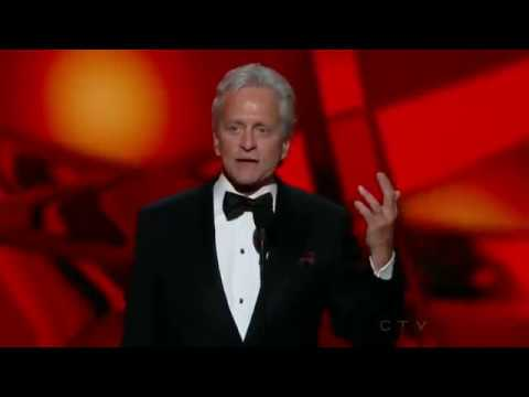 Michael Douglas wins an Emmy for Behind The Candelabra at the 2013 Primetime Emmy Awards