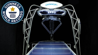 Table tennis playing robot breaks world record  - Meet The Record Breakers Japan