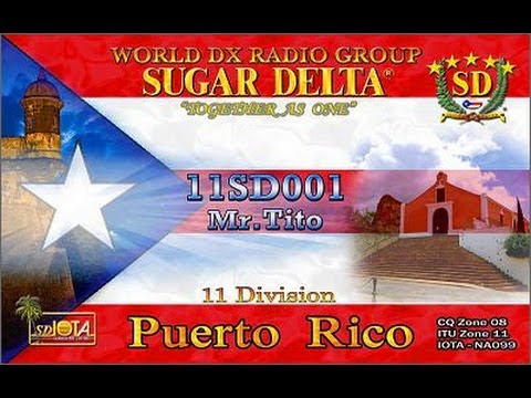 11SD001 Tito from Puerto Rico on Icom IC-7000   19/11/2011