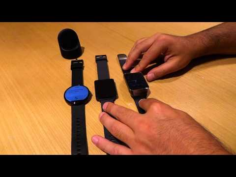 Moto 360 vs Samsung Gear Live vs LG G Watch
