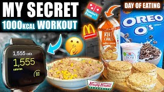 My *1000+ CALORIE* home HIIT workout | LEAN BULK full day of eating