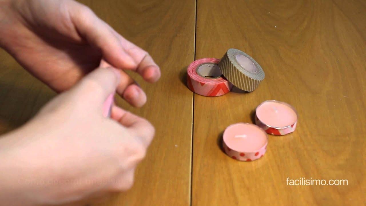 C mo decorar unas velas con washi tape - Como decorar con washi tape ...