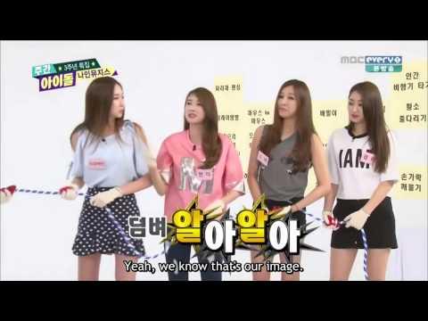 [eng Sub][140730] Nine Muses Cut - Weekly Idol 3rd Anniversary Cut video