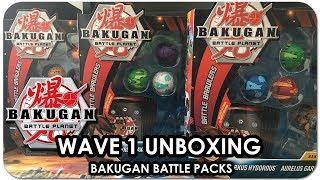 Opening THREE Bakugan BATTLE PACKS! | Bakugan: Battle Planet WAVE 1 UNBOXING