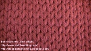 (knit Stitch) - watch knitting - lesson 2 - learn how to knit basic stitches